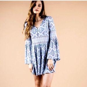 Anthropologie Moon River Paisley Print Dress